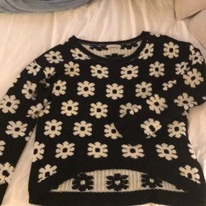 ‼️SALE‼️ black and white floral sweater